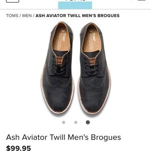 e441d9bc852 Toms Brogue Ash Aviator size 14